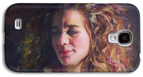 Inner Self Galaxy S4 Cases - Work in Progress - Self Portrait Galaxy S4 Case by Talya Johnson