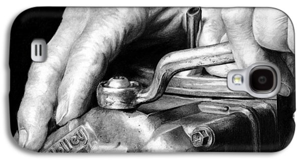 ist Working Photo Drawings Galaxy S4 Cases - Working Hands - Automotive Hands Galaxy S4 Case by Anthony Wilson