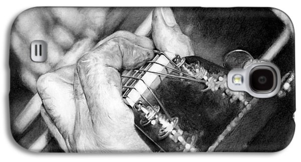 ist Working Photo Drawings Galaxy S4 Cases - Working Hands - Guitar Hands Galaxy S4 Case by Anthony Wilson
