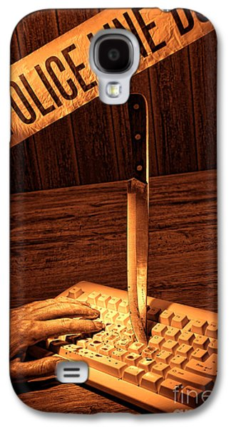Keyboards Photographs Galaxy S4 Cases - Workplace Violence Galaxy S4 Case by Olivier Le Queinec
