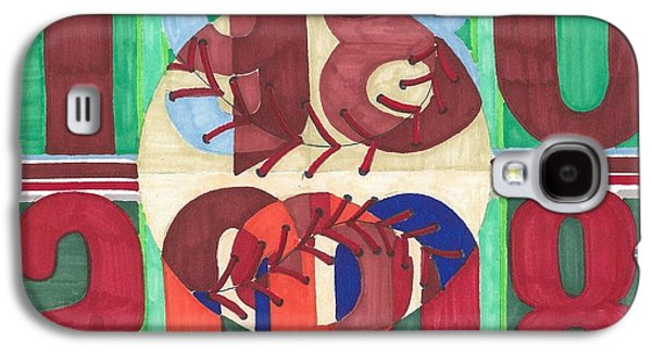 Phillies Paintings Galaxy S4 Cases - world champion Phils Galaxy S4 Case by Jeremiah Iannacci