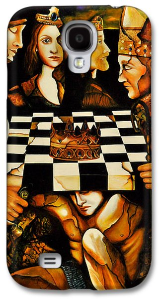 Knights Castle Paintings Galaxy S4 Cases - World Chess  Nwo Galaxy S4 Case by Dalgis Edelson