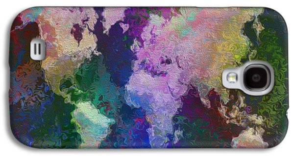 Fault Galaxy S4 Cases - World Map Galaxy S4 Case by Jack Zulli