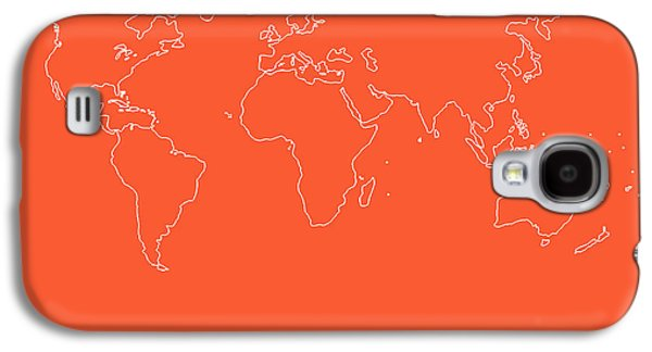 World Map Poster Digital Galaxy S4 Cases - World Map with a Quote 7 Galaxy S4 Case by Naxart Studio