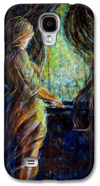 Mystic Paintings Galaxy S4 Cases - World Outside My Window Galaxy S4 Case by Nik Helbig