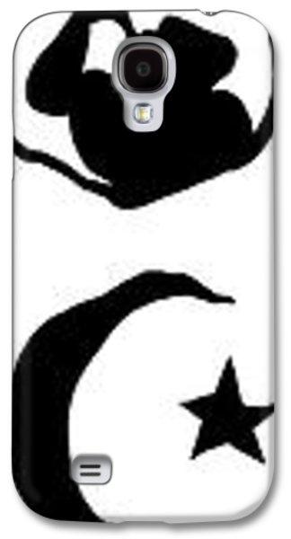 Russian Icon Galaxy S4 Cases - World Religion Symbol Calligraphy Galaxy S4 Case by Daniel Hagerman