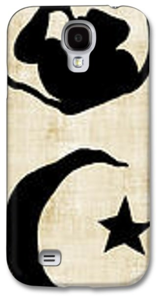 Russian Icon Galaxy S4 Cases - WORLD RELIGION SYMBOL CALLIGRAPHY on PARCHMENT Galaxy S4 Case by Daniel Hagerman