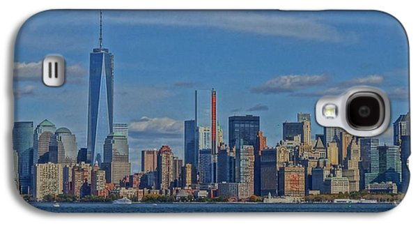 Financial Mixed Media Galaxy S4 Cases - World Trade Center Painting Galaxy S4 Case by Dan Sproul