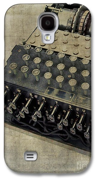 Equipment Galaxy S4 Cases - World War II Enigma Secret Code Machine Galaxy S4 Case by Edward Fielding