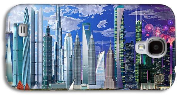 Digital Galaxy S4 Cases - Worlds Tallest Buildings Galaxy S4 Case by Garry Walton