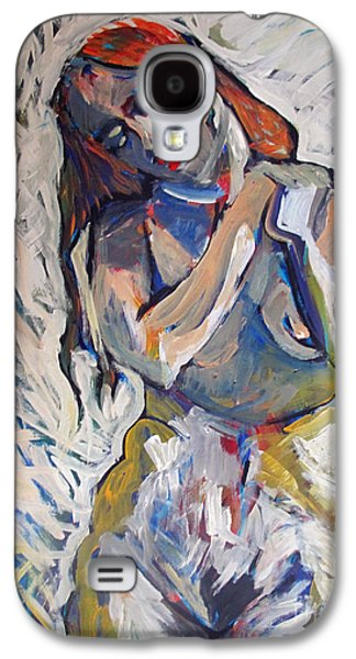 Brain Paintings Galaxy S4 Cases - Worry Galaxy S4 Case by Charlie Spear