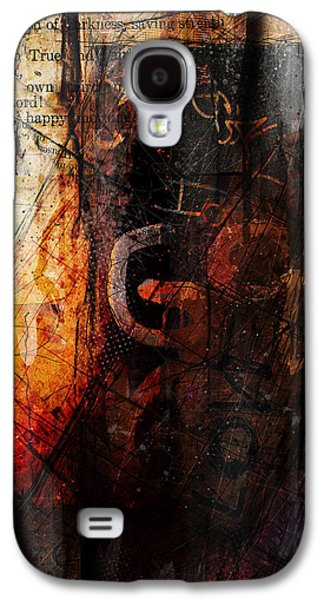 Red Abstract Mixed Media Galaxy S4 Cases - Wounded  Galaxy S4 Case by Gary Bodnar