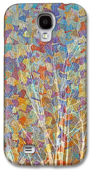 Abstract Landscape Galaxy S4 Cases - Woven Branches Long Galaxy S4 Case by Ruth Palmer