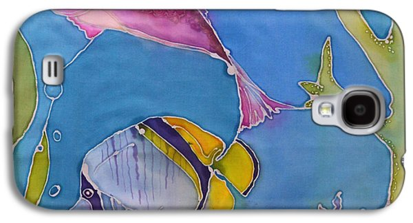 Interior Scene Tapestries - Textiles Galaxy S4 Cases - Wrasse and Raccoon Galaxy S4 Case by Jamie Schab