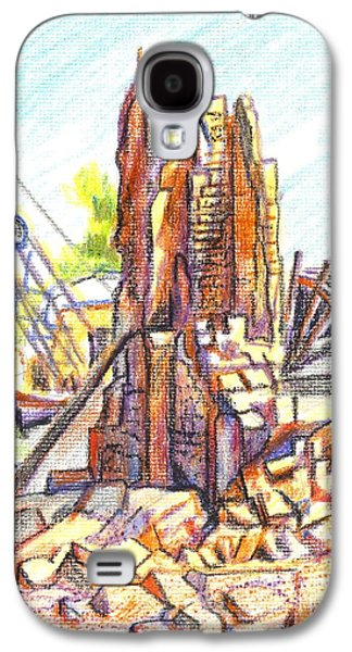 Tear Drawings Galaxy S4 Cases - Wrecking Ball Galaxy S4 Case by Kip DeVore