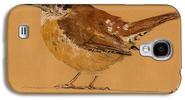 Wren Bird Galaxy S4 Case by Juan  Bosco