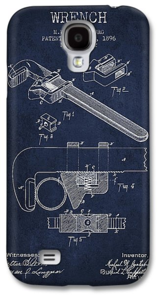 Wrench Patent Drawing From 1896 Galaxy S4 Case by Aged Pixel