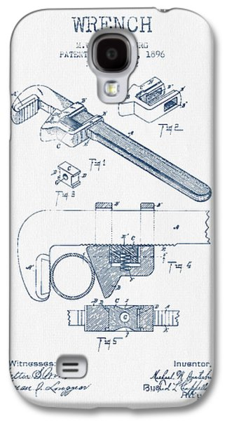 Wrench Patent Drawing From 1896- Blue Ink Galaxy S4 Case by Aged Pixel