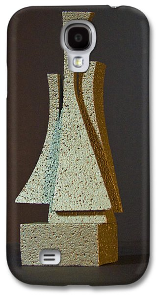 Colorful Abstract Sculptures Galaxy S4 Cases - Wright Way Galaxy S4 Case by Richard Arfsten