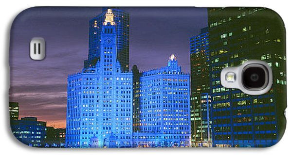 Winter Light Galaxy S4 Cases - Wrigley Building, Blue Lights, Chicago Galaxy S4 Case by Panoramic Images
