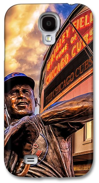 Baseball Uniform Galaxy S4 Cases - Wrigley Field Legend Galaxy S4 Case by Anthony Citro