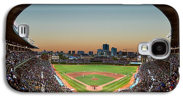 Wrigley Field Galaxy S4 Cases - Wrigley Field Night Game Chicago Galaxy S4 Case by Steve Gadomski