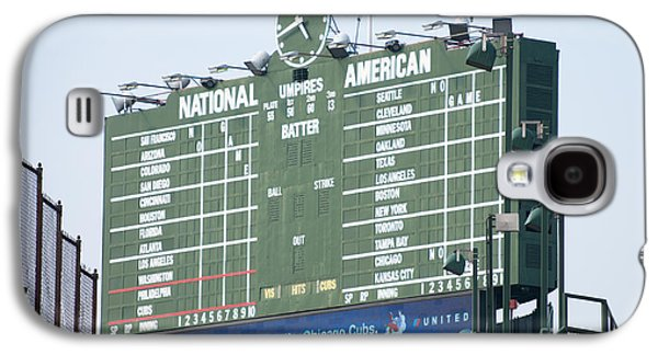 Wrigley Field Galaxy S4 Cases - Wrigley Field Scoreboard Sign Galaxy S4 Case by Paul Velgos