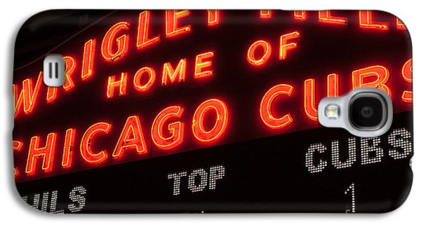 Wrigley Field Galaxy S4 Cases - Wrigley Field Sign at Night Galaxy S4 Case by Paul Velgos