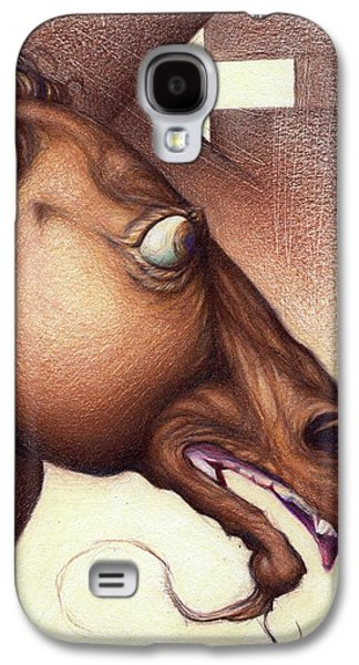 Back To Life Drawings Galaxy S4 Cases - Wrong way Galaxy S4 Case by Daniel Ragsdale Combs