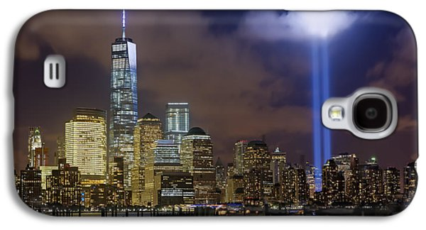 Wtc 11 Galaxy S4 Cases - WTC Tribute In Lights NYC Galaxy S4 Case by Susan Candelario