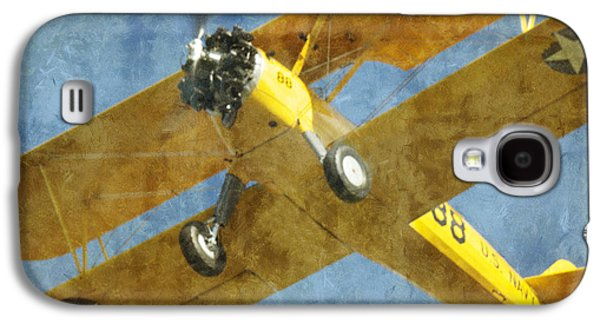 Jet Star Galaxy S4 Cases - Stearman Trainer Bi Plane Galaxy S4 Case by Thomas Woolworth