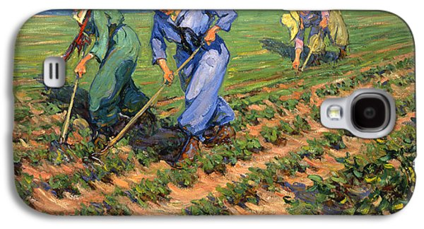 Manley Galaxy S4 Cases - WW1 Land Girls Farming Painting Print Galaxy S4 Case by Nomad Art And  Design