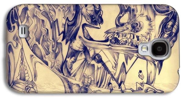 Abstract Digital Drawings Galaxy S4 Cases - Ww3 Galaxy S4 Case by Daniel Brummitt