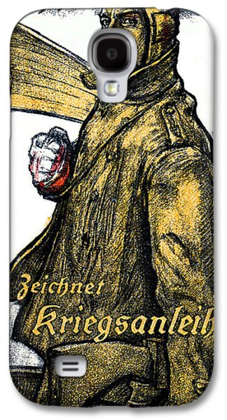 Wwi Paintings Galaxy S4 Cases - WWI German Aviation War Bond Poster Galaxy S4 Case by Historic Image