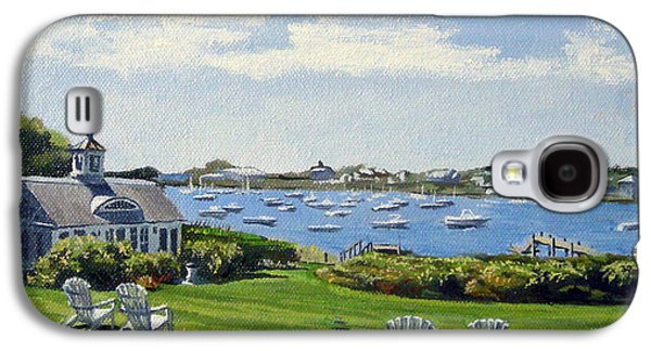 Chatham Paintings Galaxy S4 Cases - Wychmere Harbor Harwich Port Massachusetts Cape Cod Massachusetts Galaxy S4 Case by Christine Hopkins