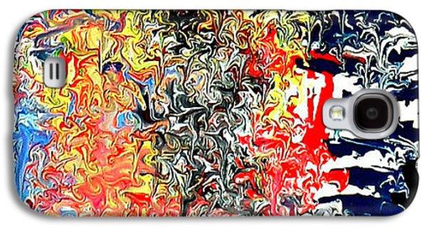 Abstract Digital Paintings Galaxy S4 Cases - Wyld Cyd Galaxy S4 Case by Cyryn Fyrcyd