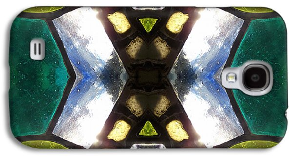 Abstract Digital Art Glass Art Galaxy S4 Cases - X stained glass Galaxy S4 Case by Ha Imako