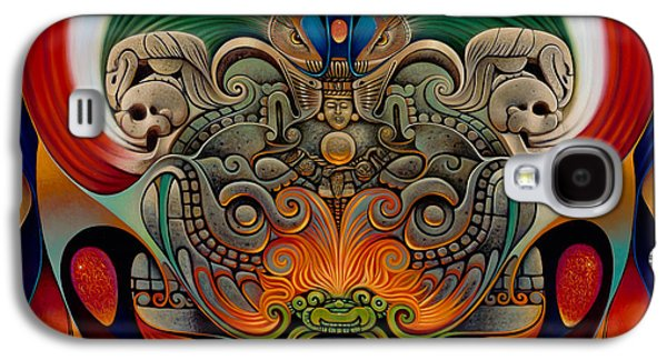 Serpent Galaxy S4 Cases - Xiuhcoatl The Fire Serpent Galaxy S4 Case by Ricardo Chavez-Mendez