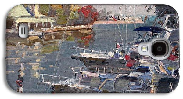 Yachts In Port Credit  Galaxy S4 Case by Ylli Haruni