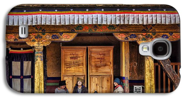 Yak Butter Tea Break At The Potala Palace Galaxy S4 Case by Joan Carroll