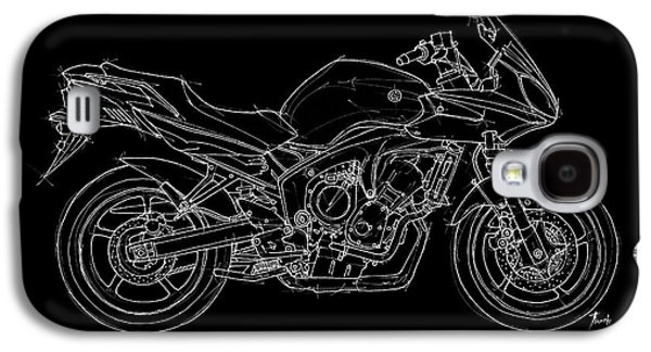 Transportation Pastels Galaxy S4 Cases - Yamaha FZ6b 2007 Galaxy S4 Case by Pablo Franchi