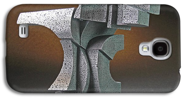 Colorful Abstract Sculptures Galaxy S4 Cases - Yang Galaxy S4 Case by Richard Arfsten