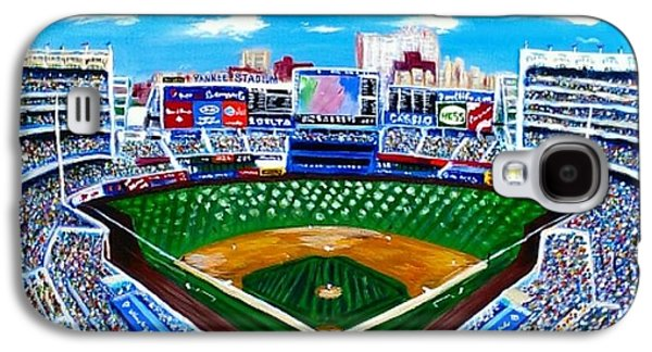 Baseball Stadiums Paintings Galaxy S4 Cases - Yankee Stadium Galaxy S4 Case by Pam VerLander