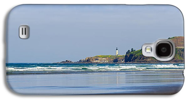 Agate Beach Oregon Galaxy S4 Cases - Yaquina Head Lighthouse 2 Galaxy S4 Case by C Steele