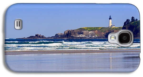 Agate Beach Oregon Galaxy S4 Cases - Yaquina Head Lighthouse Galaxy S4 Case by C Steele