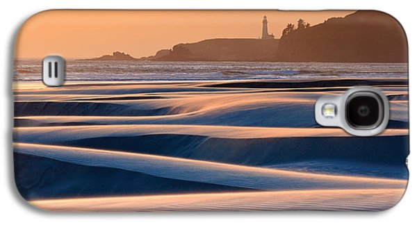 Agate Beach Oregon Galaxy S4 Cases - Yaquina Head Swirling Sands Galaxy S4 Case by Katherine Gendreau