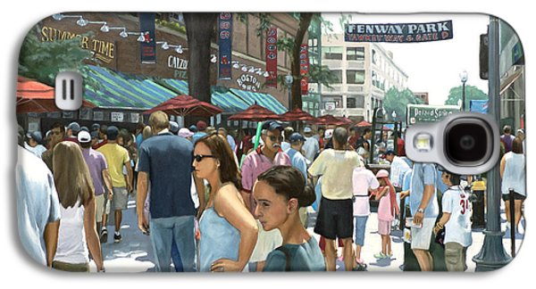 Park Scene Paintings Galaxy S4 Cases - Yawkey Way Galaxy S4 Case by Linda Tenukas