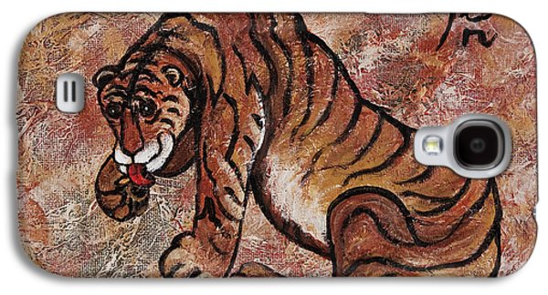 The Tiger Paintings Galaxy S4 Cases - Year Of The Tiger Galaxy S4 Case by Darice Machel McGuire
