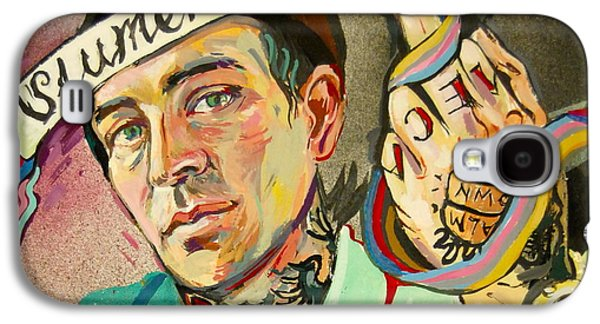 Eminem Paintings Galaxy S4 Cases - Yelawolf Portrait Galaxy S4 Case by Britt Kuechenmeister