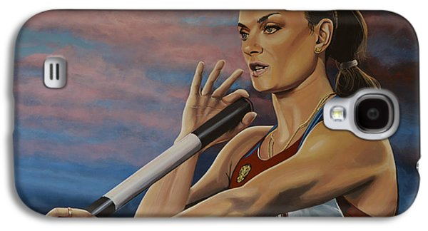 Olympic Gold Medalist Galaxy S4 Cases - Yelena Isinbayeva   Galaxy S4 Case by Paul Meijering